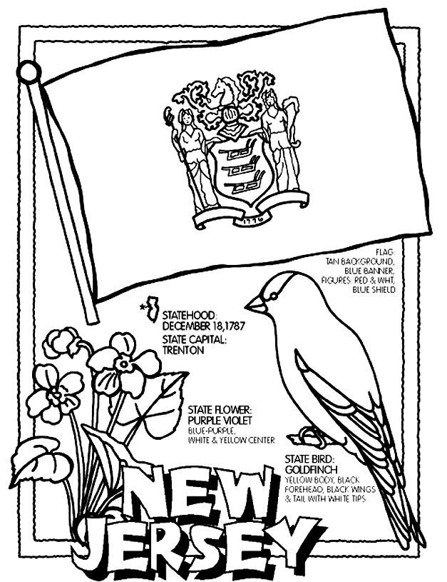 New Jersey Coloring Pages New Jersey State Coloring Page