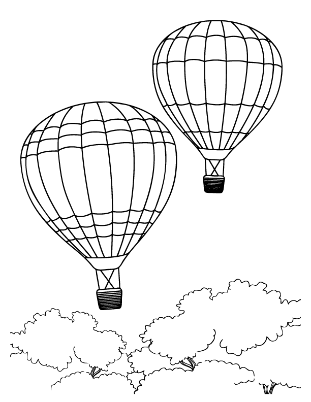 Balloon color page az coloring pages for Balloon coloring pages