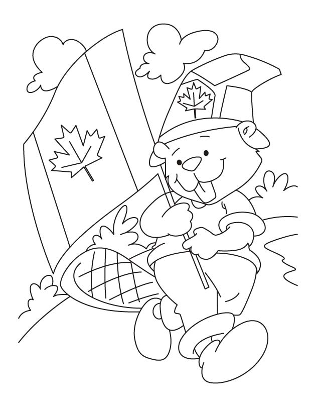 flag coloring pages canada - photo#36
