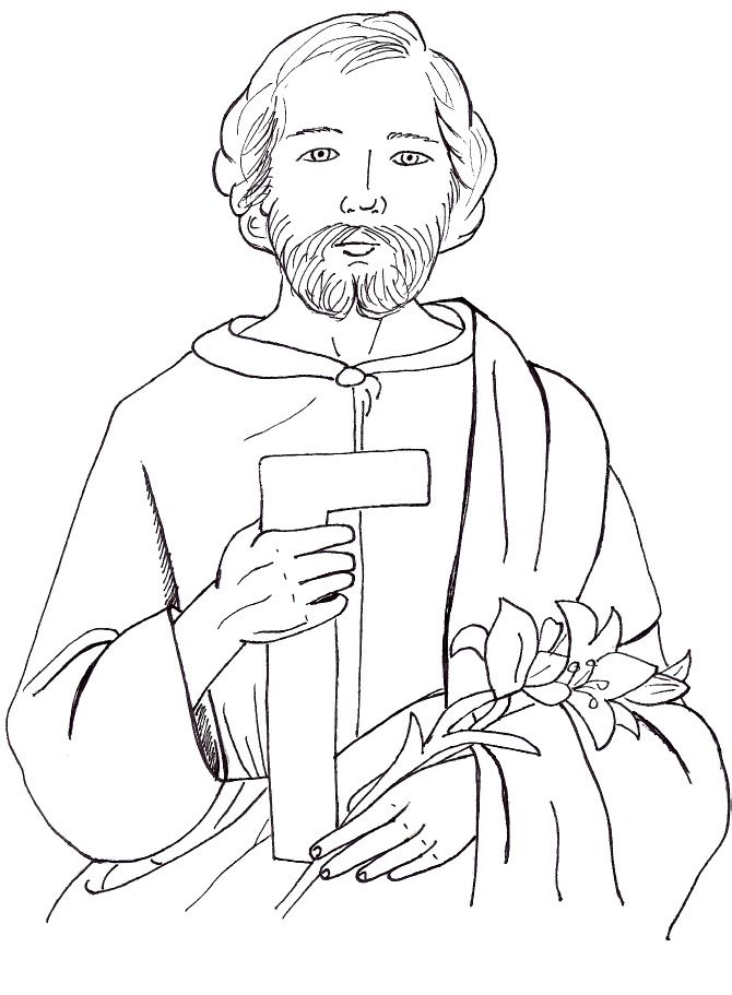 free coloring pages of saint joseph