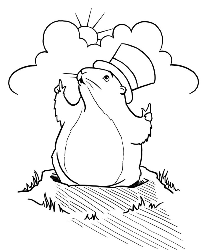Groundhog Drawing Az Coloring Pages Ground Hog Coloring Page