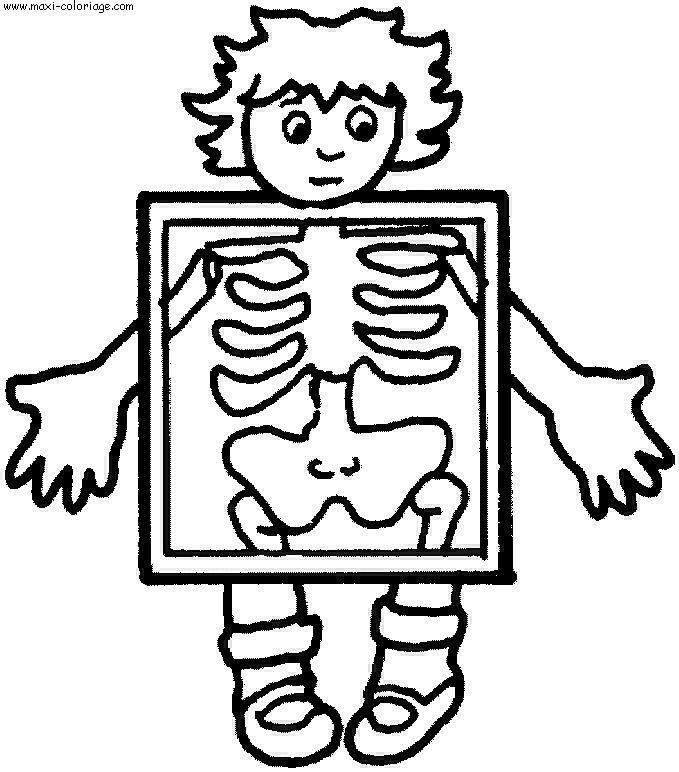 x is for x ray coloring pages - photo #4
