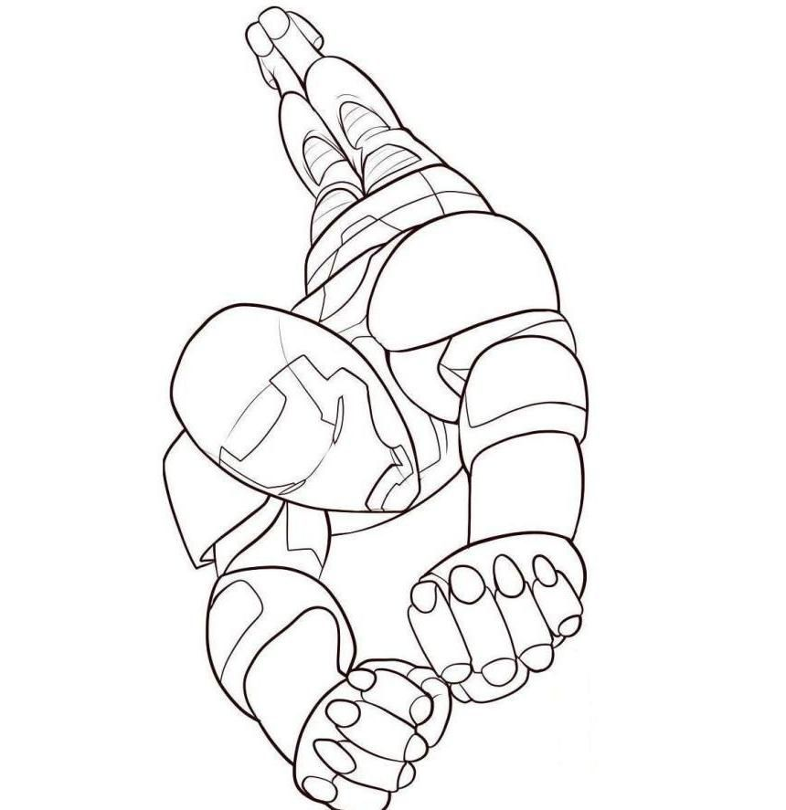 Iron Man Flying Drawings Iron Kid Colouring Pages Page