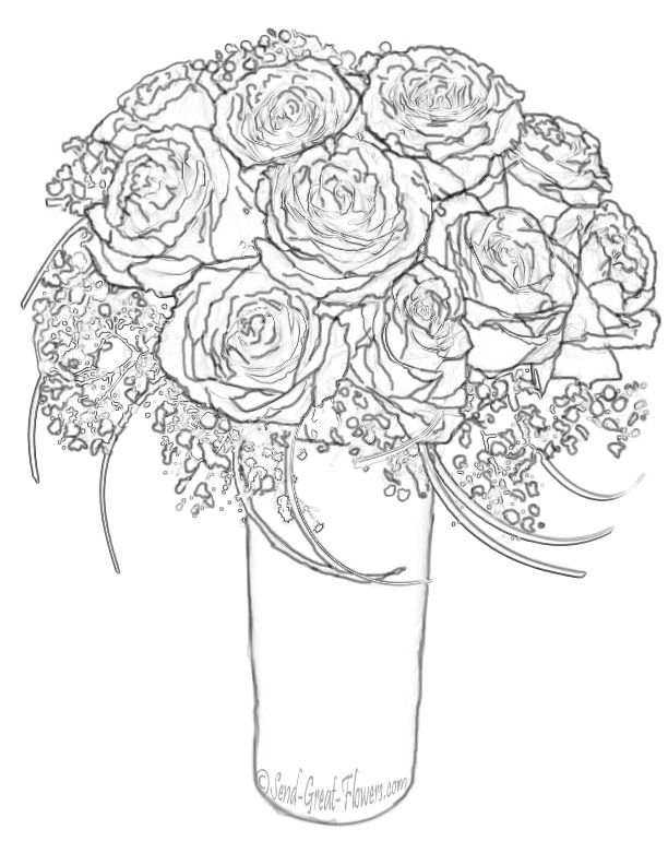 hard coloring pages of flowers - photo#6