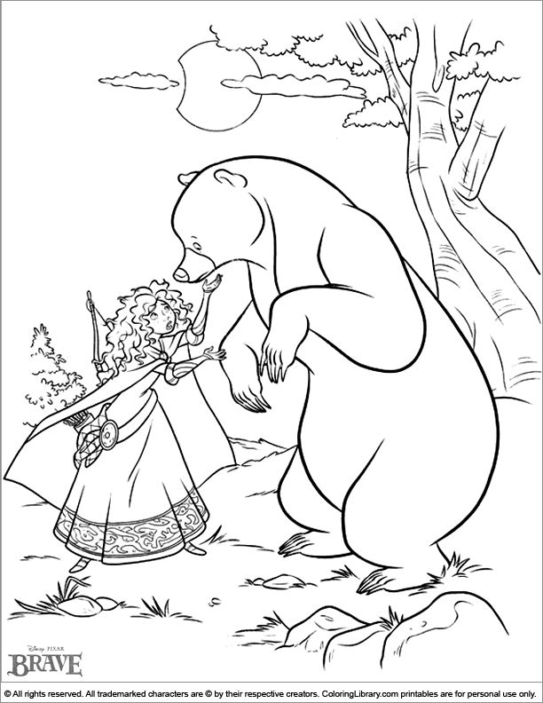 Brave coloring page coloring home for Brave coloring pages