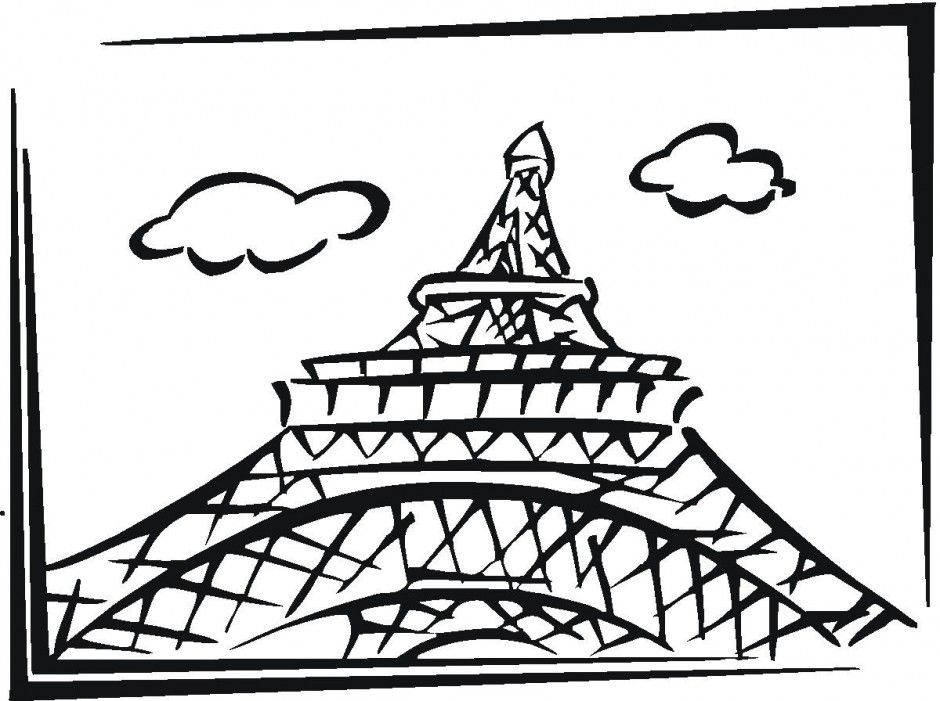 Eiffel Tower Coloring Page - Coloring Home