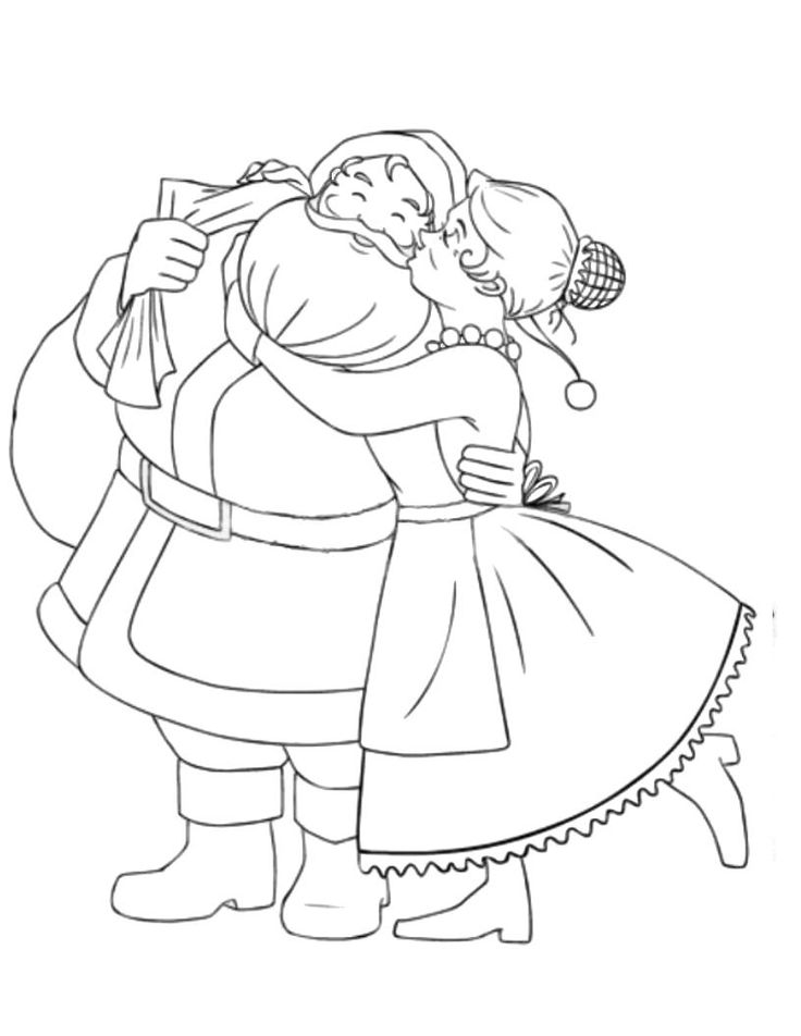 Santa Mrs Claus Coloring Page Coloring Home Mrs Claus Coloring Pages