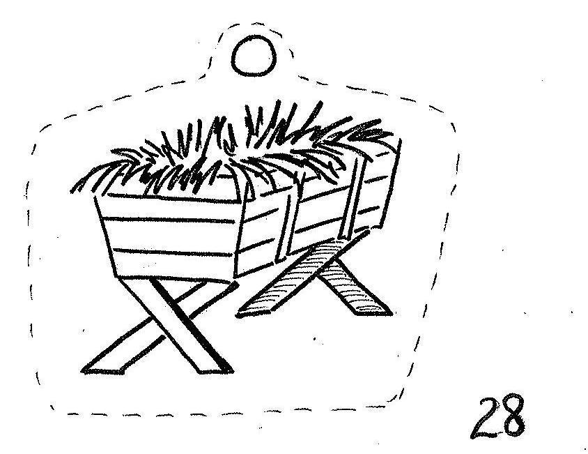 empty manger coloring pages - photo#3