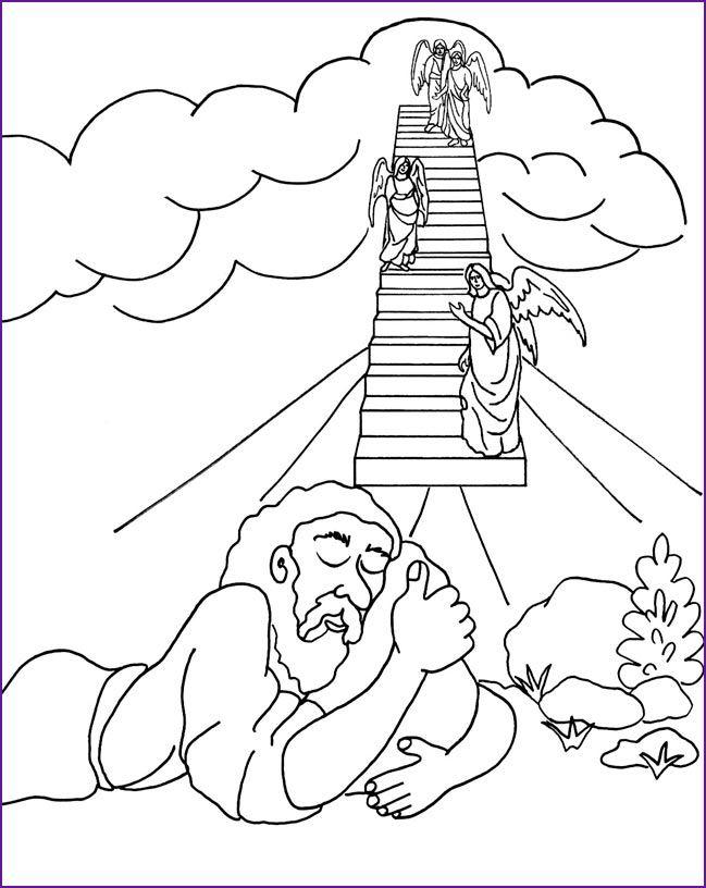 Genesis 28:12 Coloring Page | Sunday School/Christian Ed ...