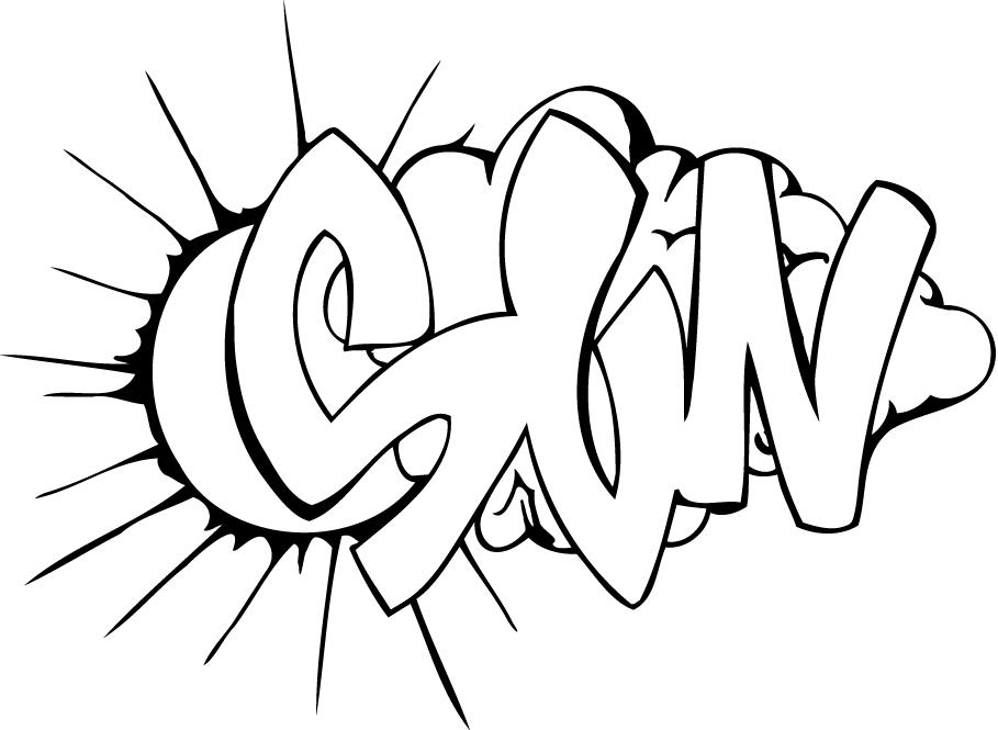 coloring page of a graffiti sun for kids - Coloring Point
