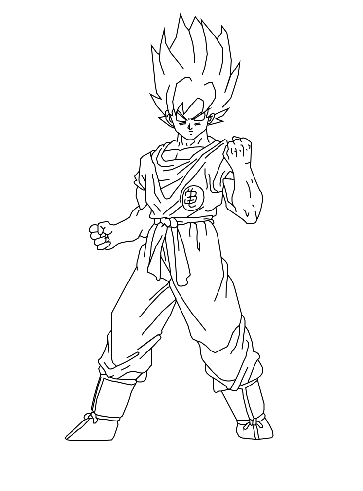 goku super saiyan coloring pages - goku super saiyan god coloring coloring pages