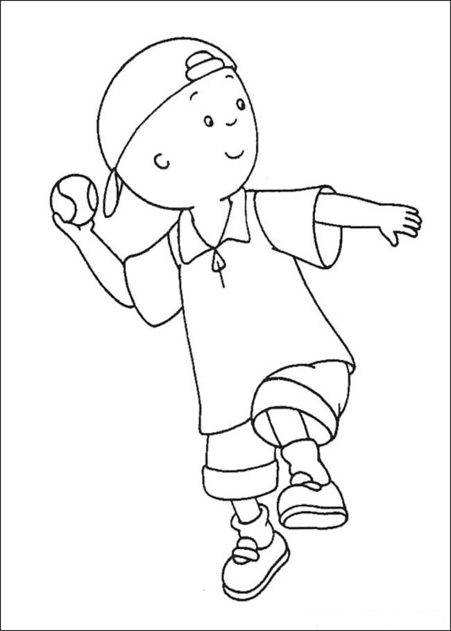 Caillou Printable Coloring Pages - Coloring Home