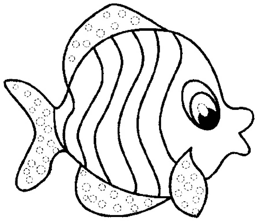 Coloring page of fish az coloring pages for Printable fish coloring pages