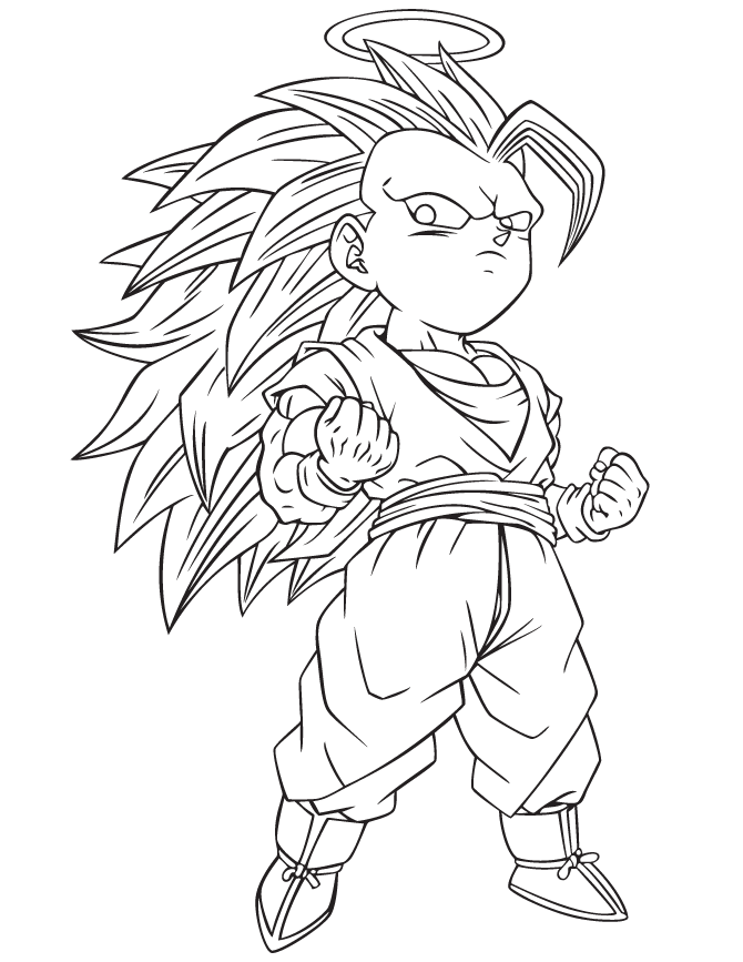 Dragonball Z Coloring Pages for Kids- Free Coloring Sheets to print