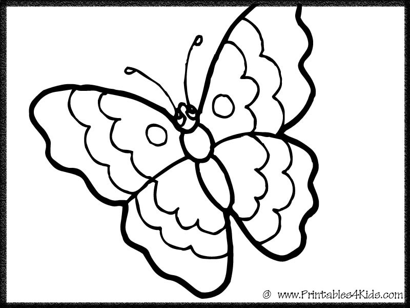 Butterfly Template For Colouring : Butterfly Template Printable AZ Coloring Pages