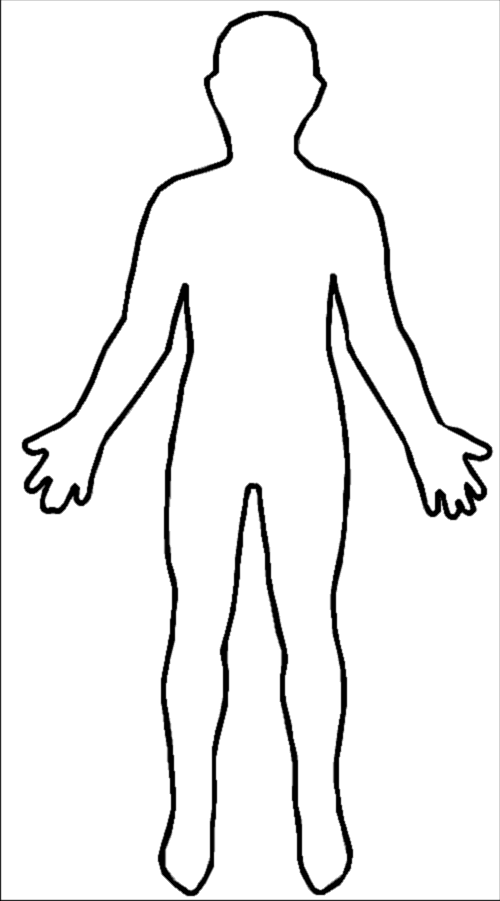 Outline Of Person Coloring Page