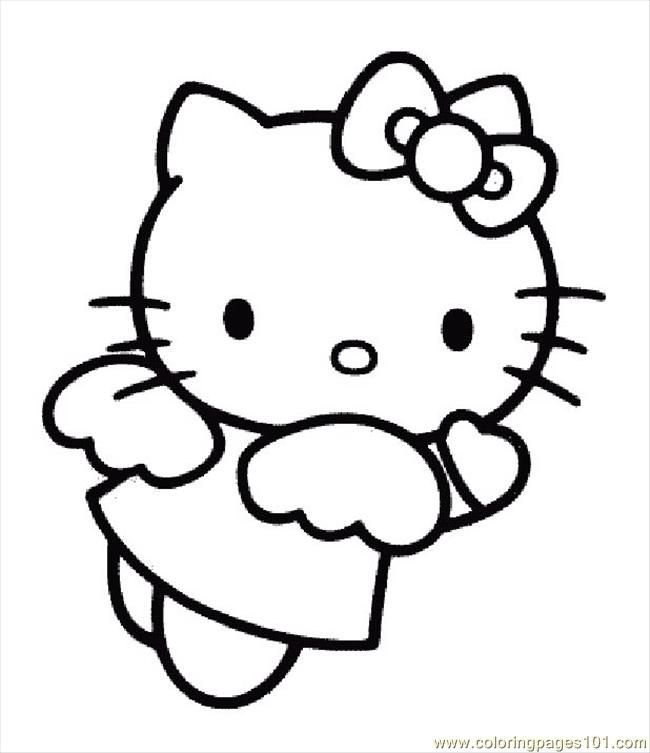 Coloring Pages Hellokittycoloringpage (Cartoons > Hello Kitty