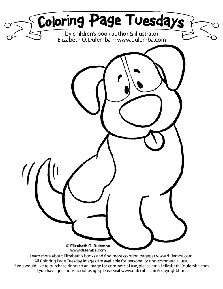 dulemba: Coloring Page Tuesday - Bernie!