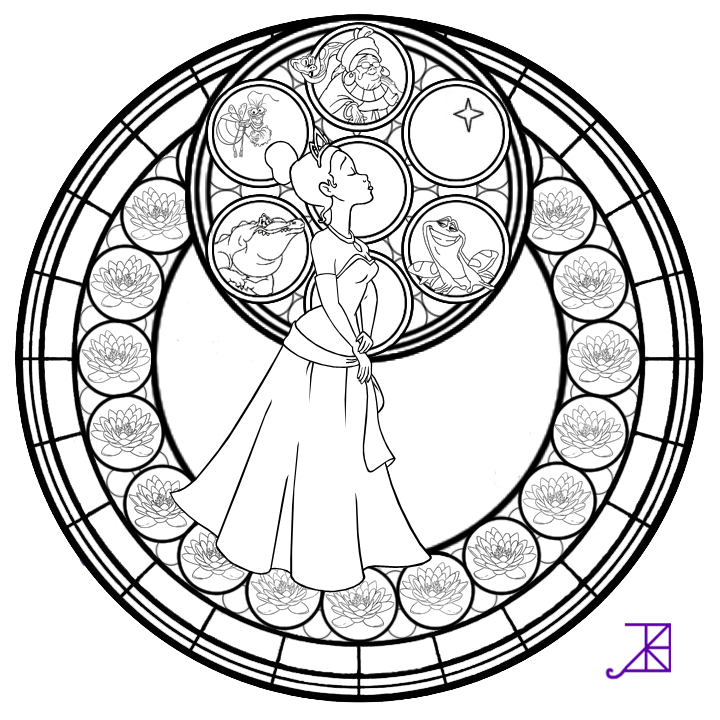 Rapunzel Stained Glass -line art- by Akili-Amethyst on deviantART