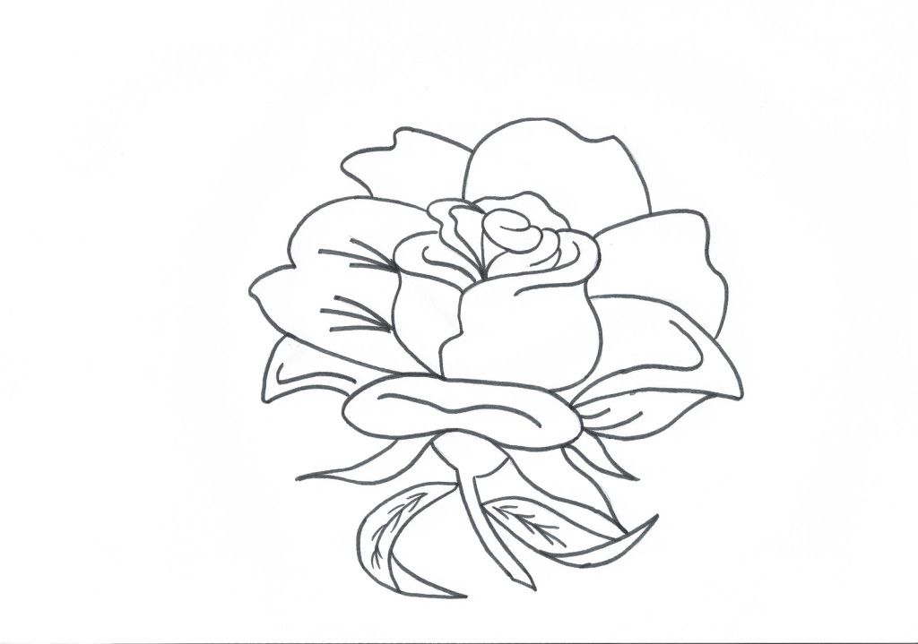 Awesome rose coloring pages printable pictures gekimoe for Cool rose coloring pages