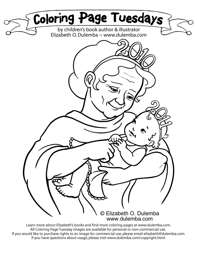 dulemba: Coloring Page Tuesday - Welcome 2011