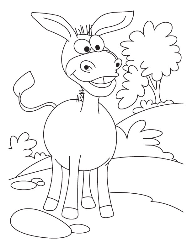 Donkey Pictures To Color