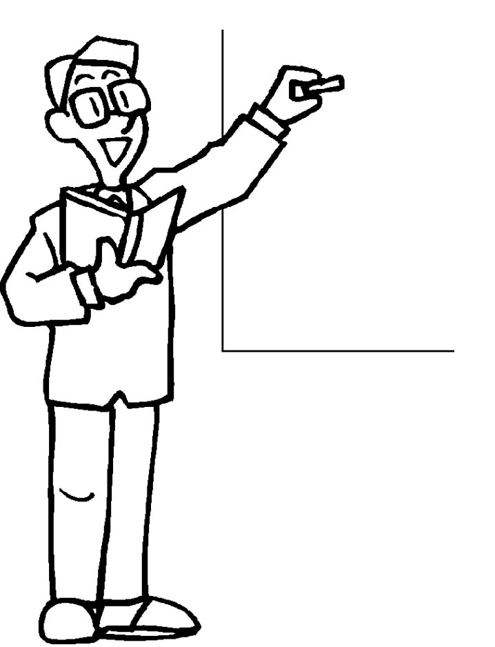 coloring pages of a teacher - photo#2