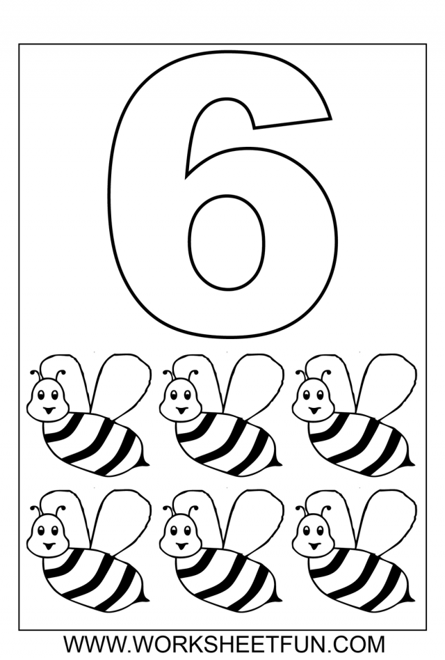 Number 6 Coloring Page Coloring Home Number 6 Coloring Page