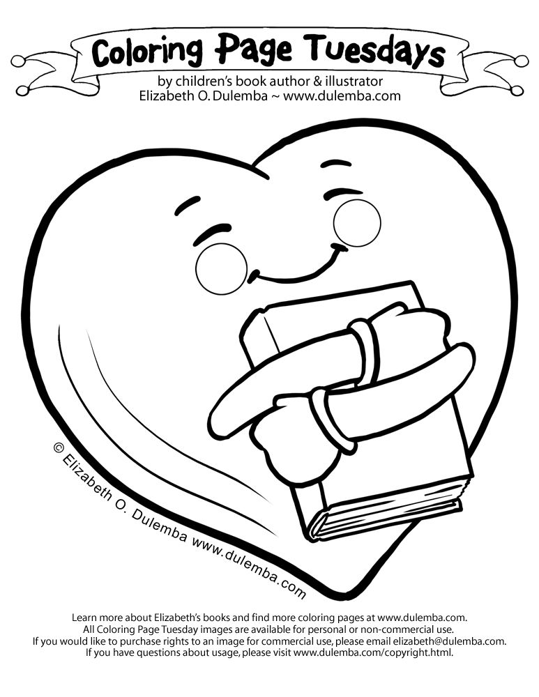 dulemba: Coloring Page Tuesday - Book Love!