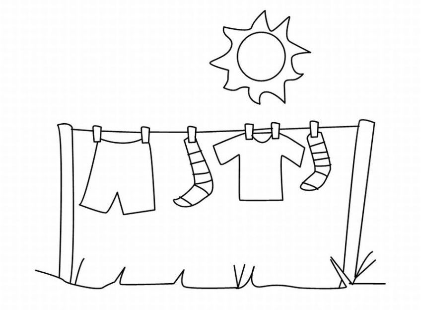 baby clotheline coloring pages - photo#26