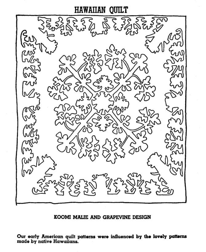 Quilt Square Coloring Page