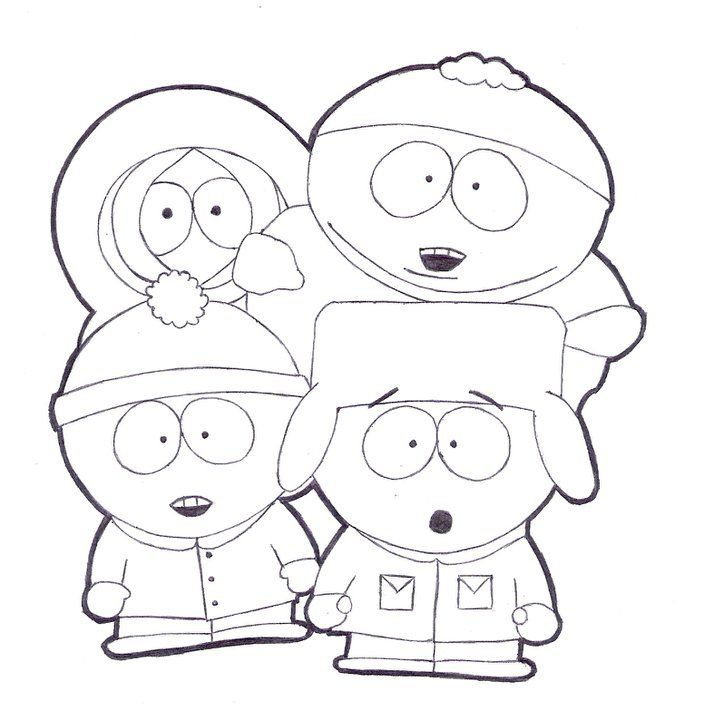 coloring pages of south park coloring home Family Guy Coloring Pages  Coloring Pages South Park