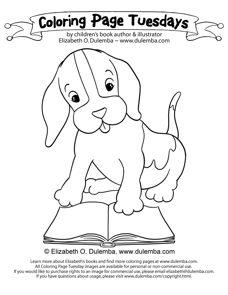 Puppy And Ribbon Free Colouring Pages Coloring Pages Puppy And Ribbon