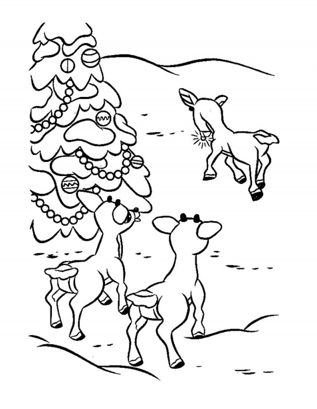 Download Rudolph Friends Coloring Page Source Qg High Res