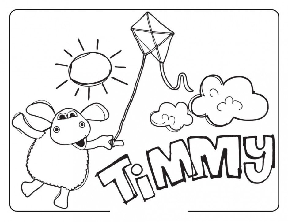 Happy Shaun The Sheep Coloring Pages Kids Colouring Pages 293595