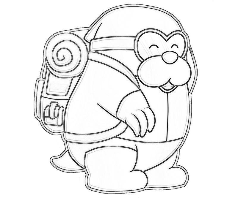 monty mole character tubing