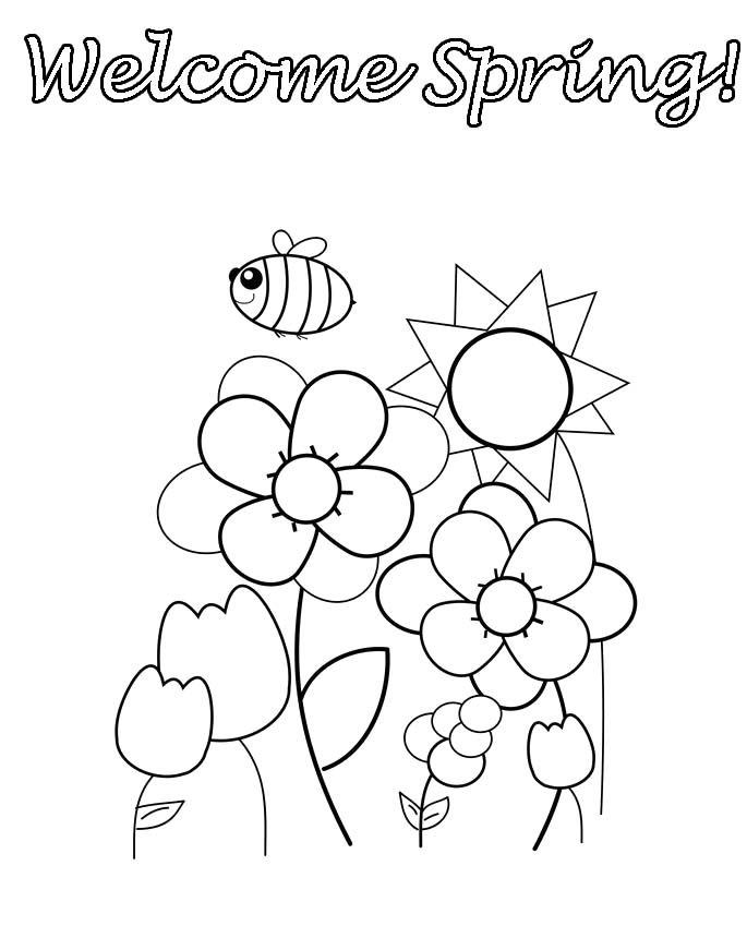 spring kindergarten coloring pages - photo#30