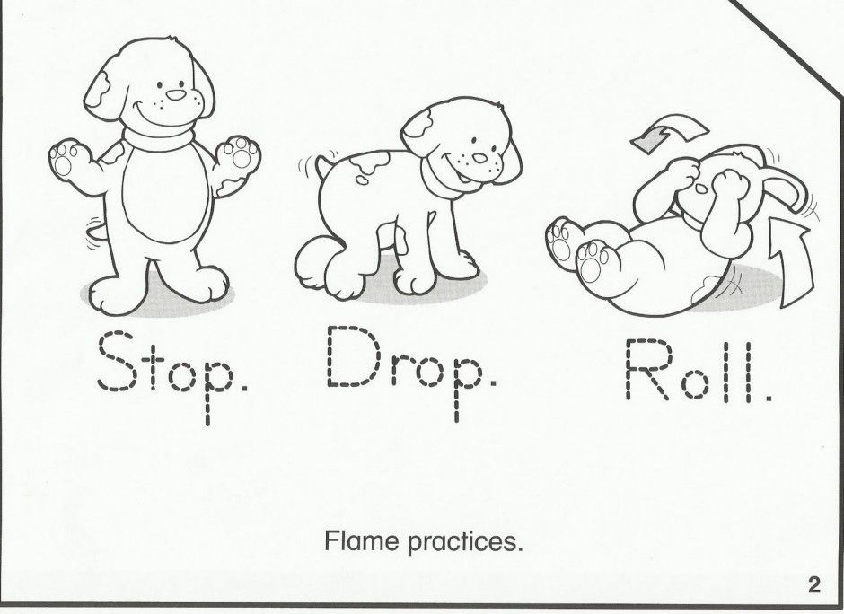 kindergarten safety coloring pages - photo#14