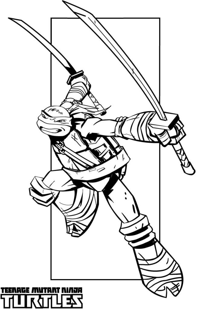 Teenage Mutant Ninja Turtle Coloring Pages to print for kids