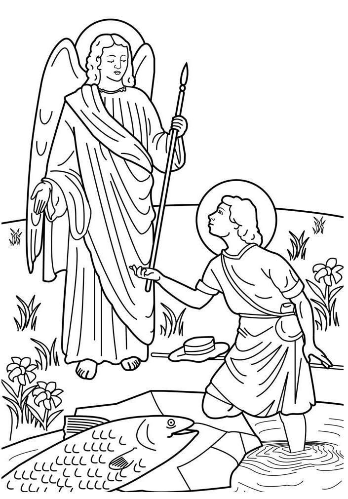 All saints day coloring pages coloring home - Raphael dessin ...