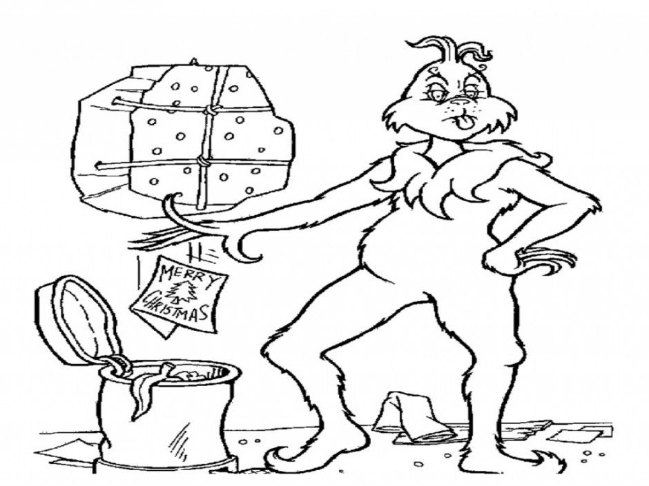 free grinch coloring pages - grinch stole christmas coloring pages coloring home