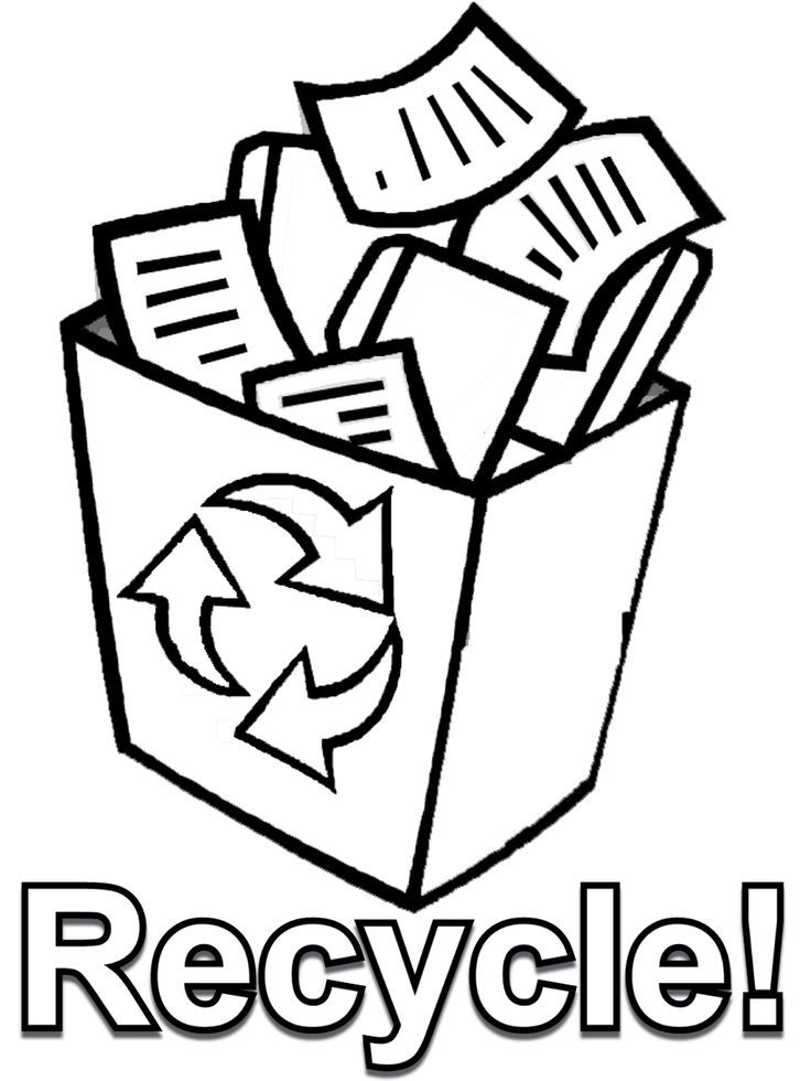 Recycling Symbols Printable - Coloring Home