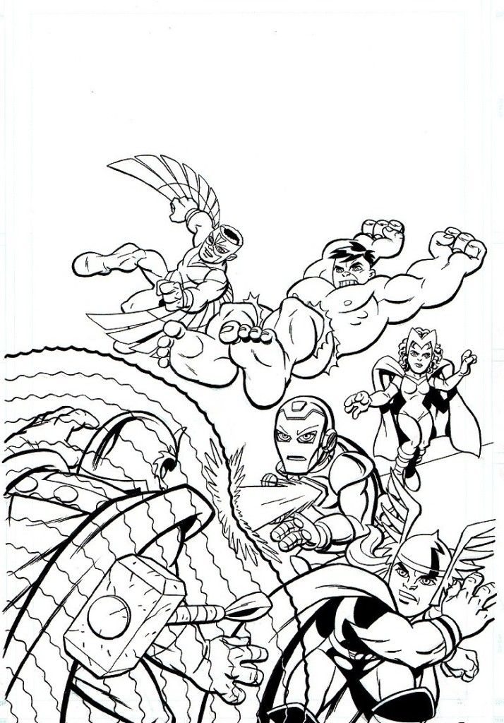 Superhero Thanos Coloring Pages: Marvel Superhero Coloring Pages