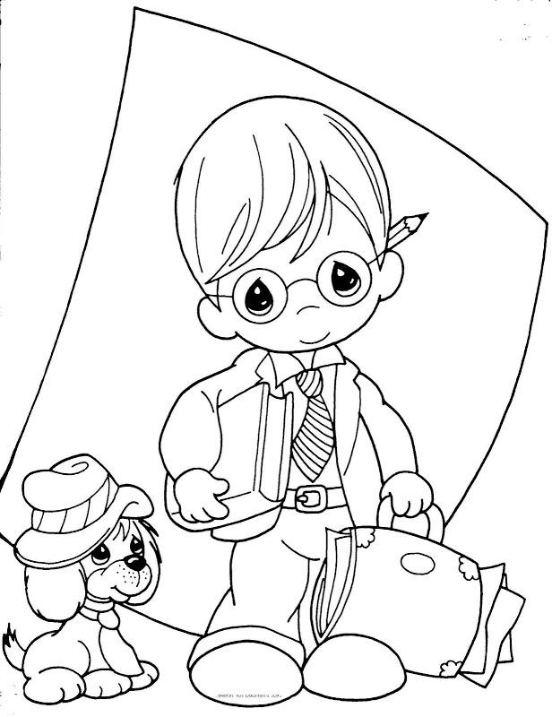 Precious Moments Boy And Girl Coloring Pages Az Coloring Precious Moments Boy Coloring Pages Free