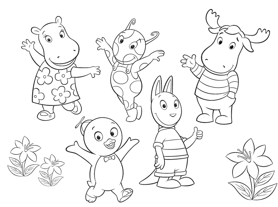 free backyardigans coloring pages - backyardigans books az coloring pages