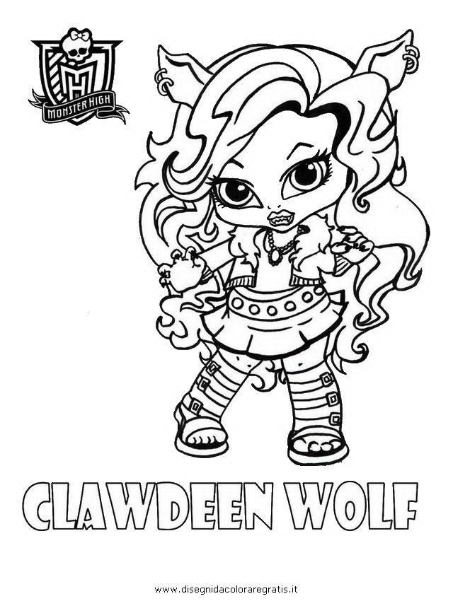 Monster High Baby Colouring Pages Page 2