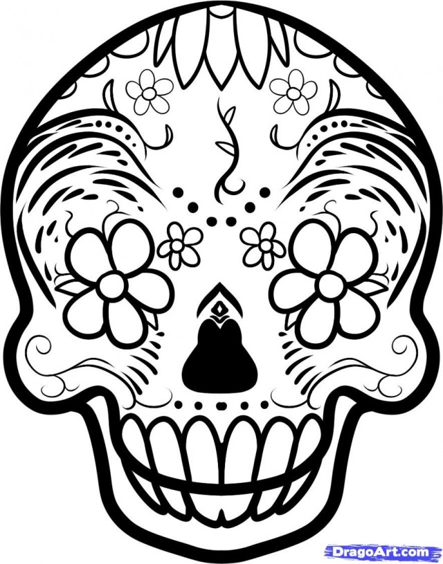 Day Of The Dead Skeleton Coloring Pages 141339 Day Of The Dead