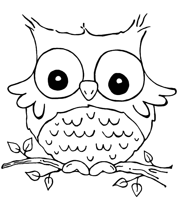a owl coloring pages - photo #27
