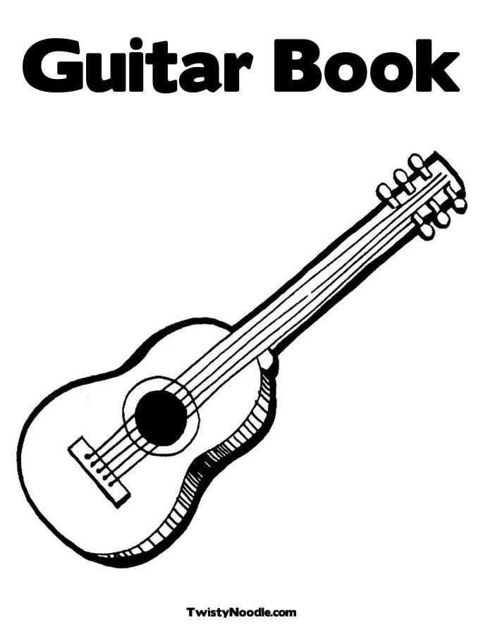 Acoustic Electric Guitar Colouring Pages