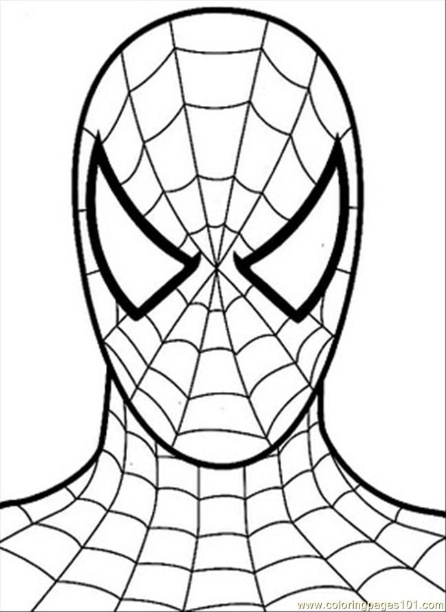 Free spiderman coloring pages for kids coloring home for Spiderman coloring page printable